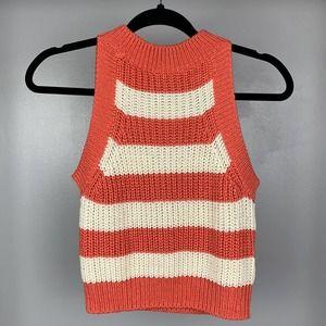 Taylor & Sage Coral Sleeveless Knit Crop Top
